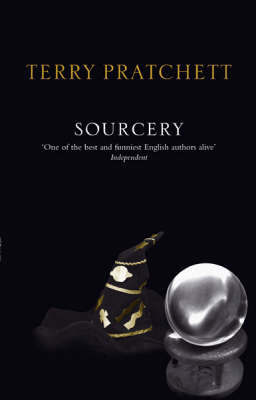 Sourcery (Discworld - Rincewind / The Wizards) (black cover) by Terry Pratchett image