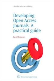 Developing Open Access Journals by David Solomon