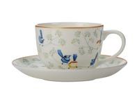 Maxwell & Williams: Cashmere Wrens & Friends Cup & Saucer - Splendid Fairy & White-Winged Fairy Wren (250ml)