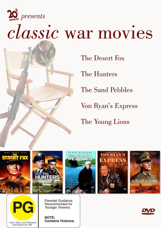 Classic War Movie Box Set (Von Ryan's Express, Young Lions, Desert Fox, The Hunters, The Sand Pebbles) (5 Disc) on DVD