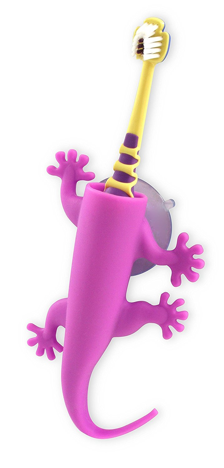 J-me: Larry the lizard Toothbrush Holder - Purple image