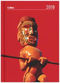 Collins 2019 Daily A5 Diary - Maori Toanga (Red)