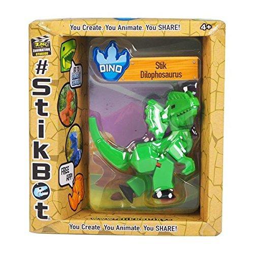 Stikbot: Dino Single - Dilophosaurus (Green)
