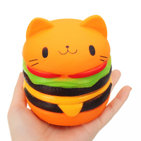 I Love Squishy: Kitty Burger Squishie Toy (10.5cm)