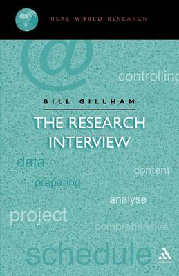 The Research Interview by Bill Gillham image