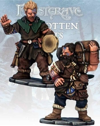 Frostgrave Barbarian Bard & Pack Mule