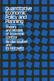 Quantitative Economic Policy and Planning by Ira Horowitz