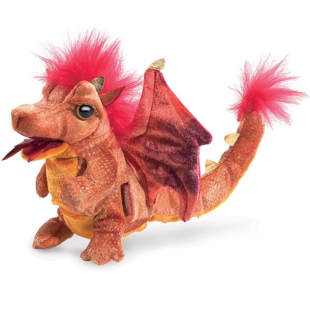 Folkmanis Hand Puppet - Fire Dragon