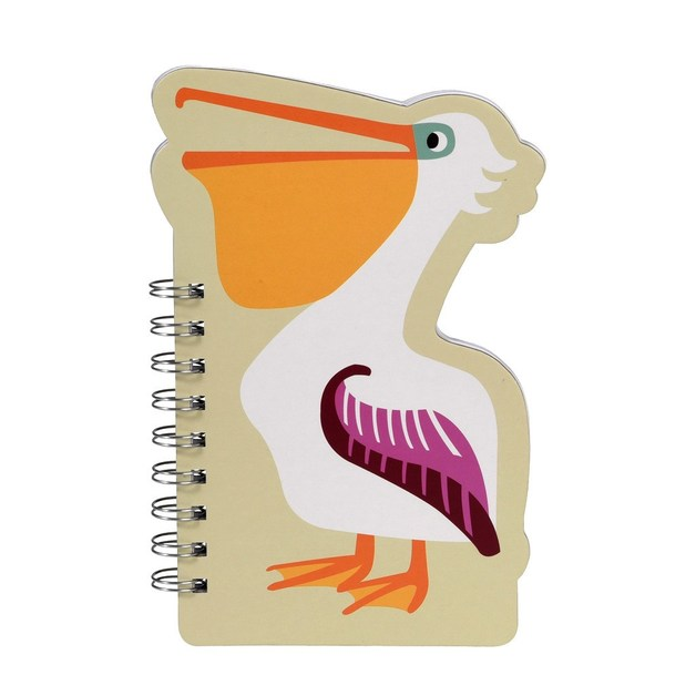 Colourful Creatures Spiral Notebook - Pelican