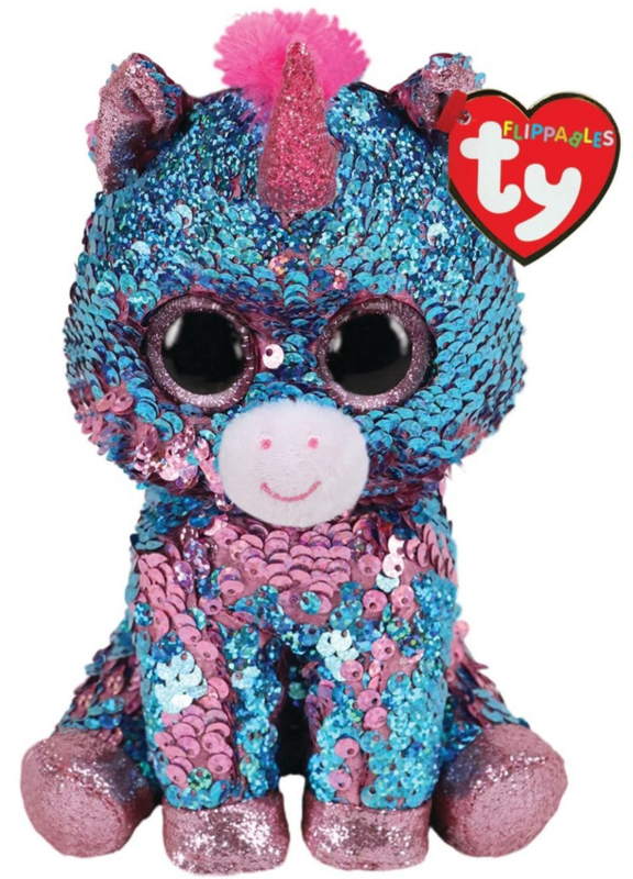 TY Flippable: Celeste Unicorn - Medium Beanie Boo Plush