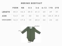 Babu: Merino Long Sleeve Body Suit - Sand (0-3m) image