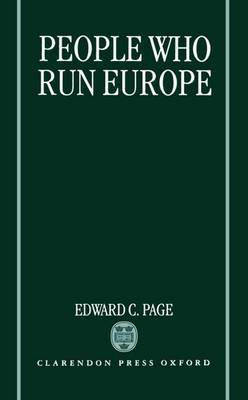 People Who Run Europe by Edward C. Page image