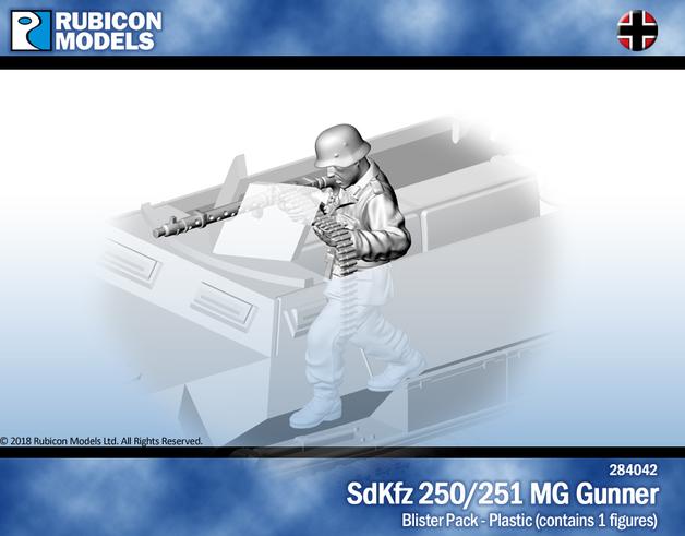 Rubicon 1/56 SdKfz 250/251 MG Gunner
