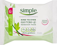 Simple Kind to Eyes Make Up Remover Pads (30pk)