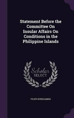 Statement Before the Committee on Insular Affairs on Conditions in the Philippine Islands by Felipe Buenoamino image