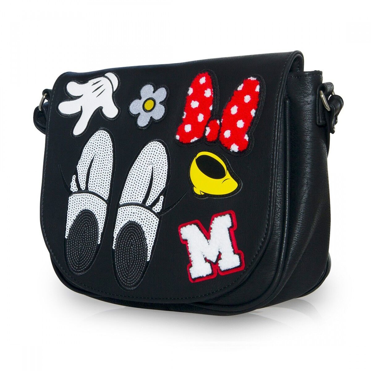 6304b2c7fecb ... Loungefly: Disney Minnie Patches - Crossbody Bag image ...