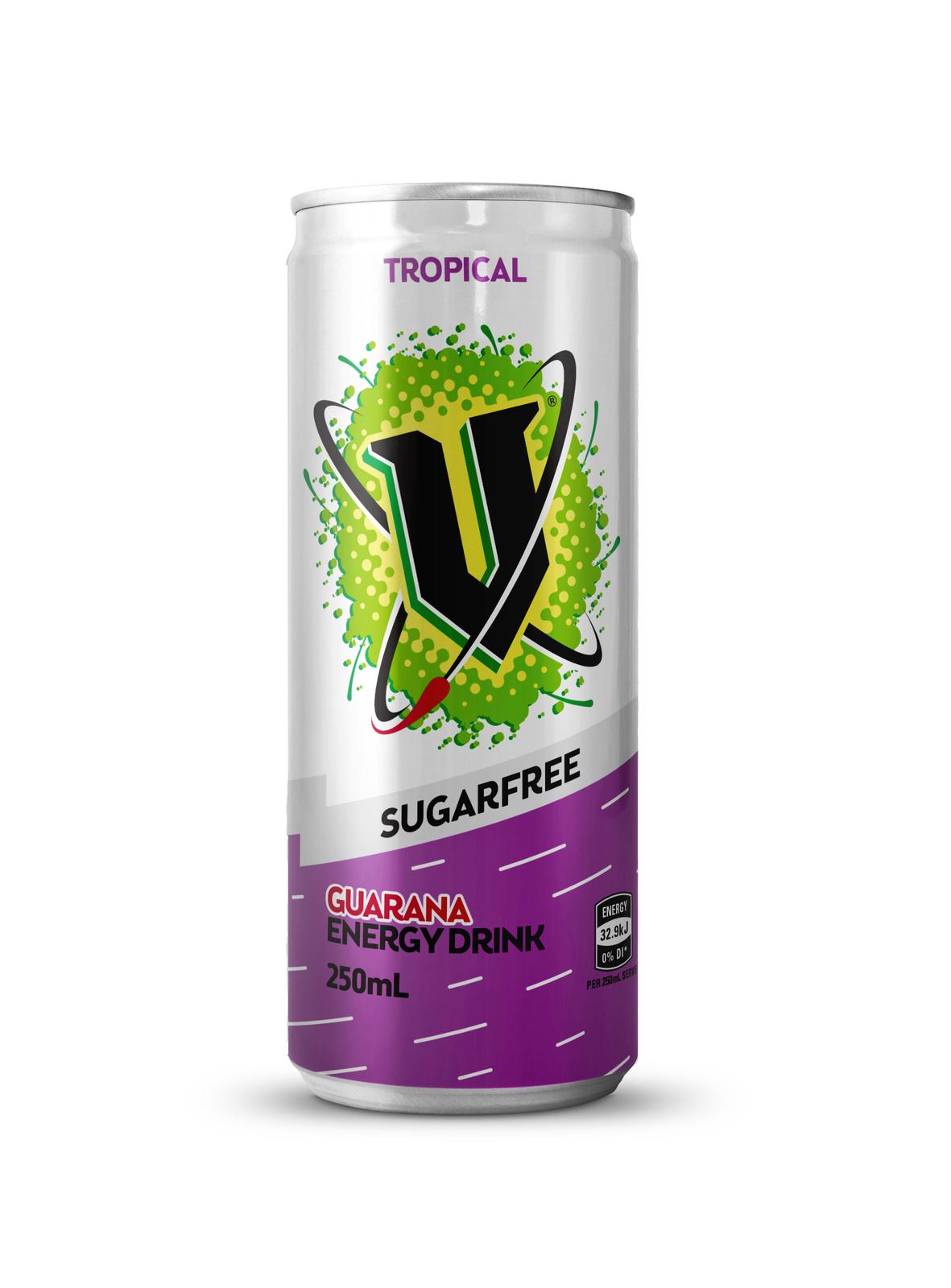 V: Sugar Free - Tropical 250ml (24 Pack) image