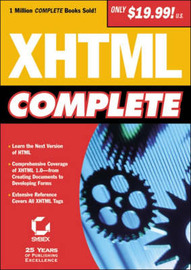 XHTML Complete by Sybex image