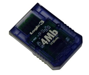 Logic 3 4MB Memory Card for GameCube (Grey) for GameCube image