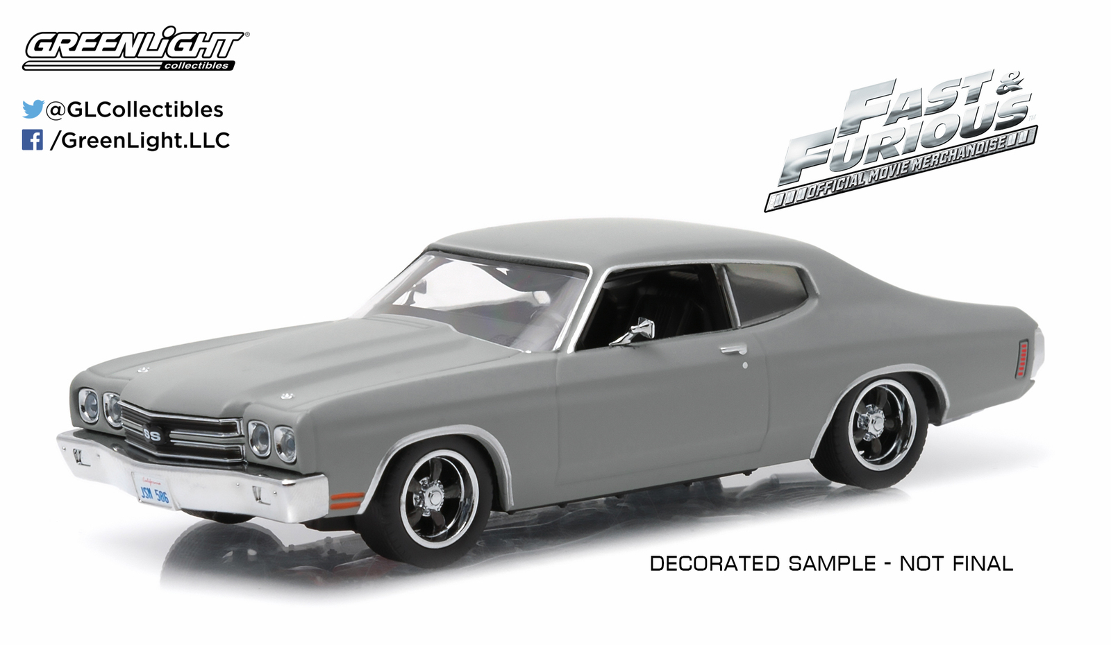 1/43: Chevrolet Chevelle SS - Fast & Furious - Diecast Model image