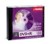 Imation DVD+R 2.4X 8.5GB Double Layer 1 Pack