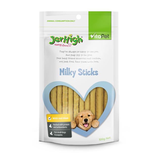 Vitapet: Jerhigh Milky Sticks (100g)