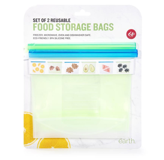 Silicone Food Storage Bags (Set of 2)