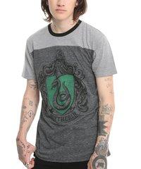 Harry Potter: Slytherin Mens Yoke T-Shirt (Medium)