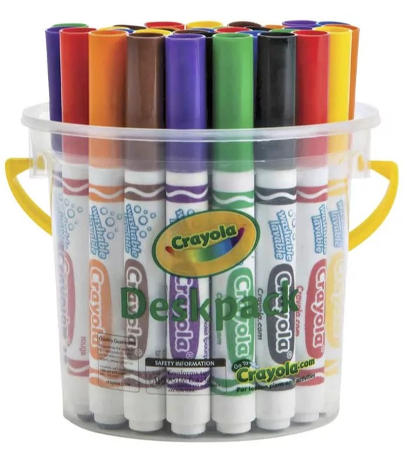 Crayola: Classic Washable Marker Deskpack (32-Piece/ 8 Colours)