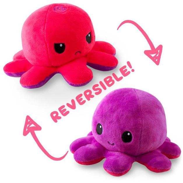 TeeTurtle: Reversible Mini Plush - Octopus (Pink/Purple)