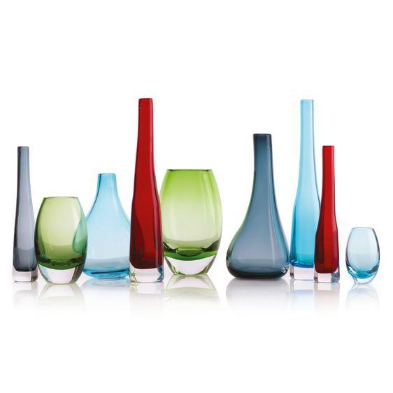 Krosno Sashay Bulb Vase - Ruby (30cm) image