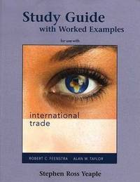 International Trade: Study Guide by Stephen Yeaple image