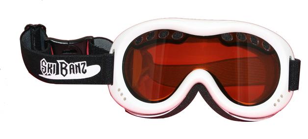 Ski Banz Arctic White Children's Ski Goggles