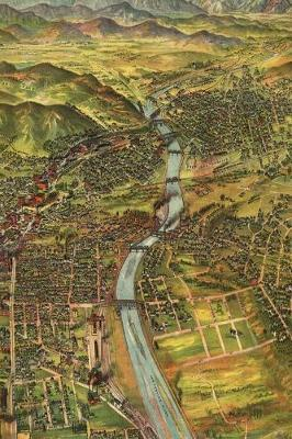 1894 Birds Eye View Map of Los Angeles, California - A Poetose Notebook / Journal / Diary (50 pages/25 sheets) image