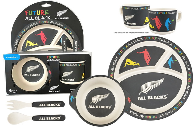 Bamboo Mealtime Set - All Blacks