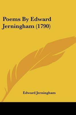 Poems By Edward Jerningham (1790) by Edward Jerningham image