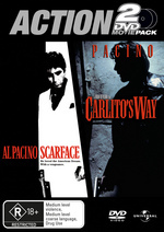 Action 2 DVD Movie Pack (Scarface / Carlito's Way) (2 Disc Set) on DVD