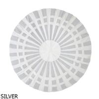 Bambury Atoll Round Cushion Cover (Silver)