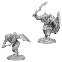 Pathfinder Deep Cuts: Unpainted Miniatures - Dragonborn Male Fighter