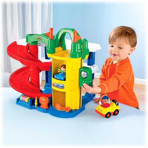 954ba1b140d3 Little People - Racin  Ramps Garage