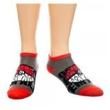 Pokemon: Pokeball Ankle Socks - Red/Grey