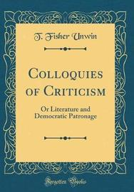Colloquies of Criticism by T. Fisher Unwin image