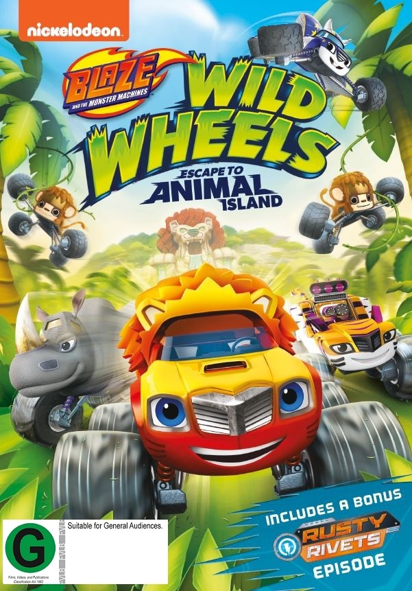 Blaze & The Monster Machines: Wild Wheels Escape To Animal Island on DVD image