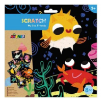 Avenir: Scratch Art Kit - My Sea Friends