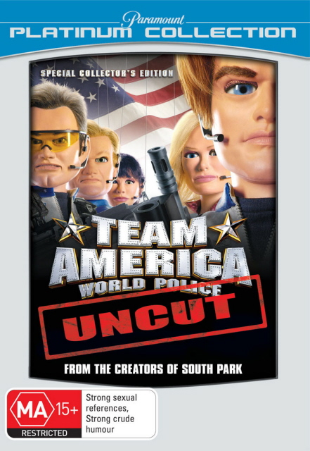 Team America - World Police: Uncut - Special Collector's Edition (Platinum Collection) DVD image