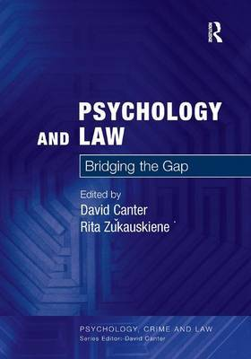Psychology and Law by David V Canter