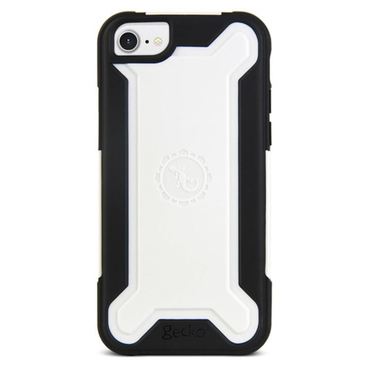 Gecko Ultra Tough Armour for iPhone 7/6/6s - Black/White image
