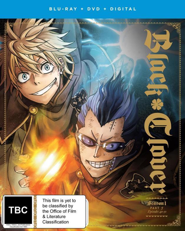 Black Clover: Season 1 - Part 5 (DVD/Blu-ray Combo) on DVD, Blu-ray