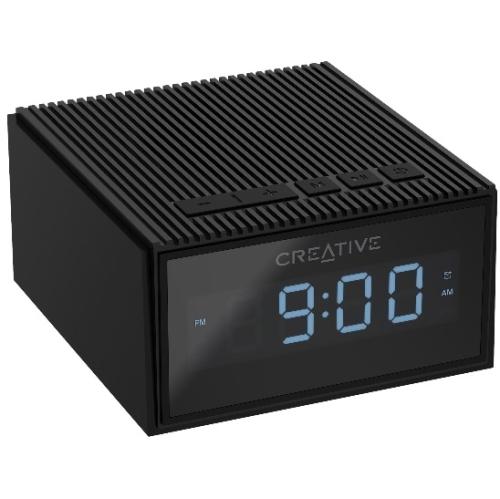 Creative Chrono Wireless Bluetooth Speaker and FM radio clock - Black