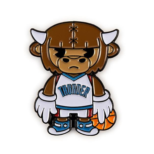 NBA: Oklahoma City - Thunder Rumble Mascot Enamel Pin